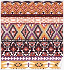 Navajo colorful  tribal pattern  Poster