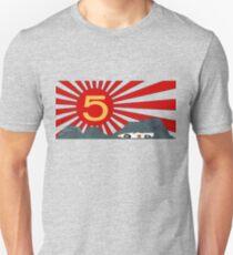 Mach 5 Speed Racer aufgehende Sonne Slim Fit T-Shirt