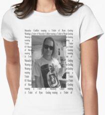 Macaulay Caulkin wearing a T-shirt of  Ryan Gosling wearing a T-shirt of Macaulay Caulkin  Women's Fitted T-Shirt
