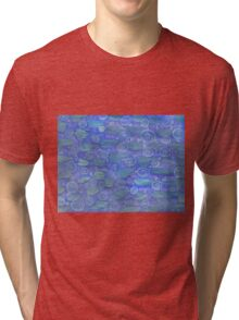 Purple Green And Blue Watercolor Play  Tri-blend T-Shirt