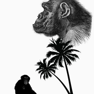 Chimp t-shirt  by iansoca