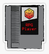 Firey Red d20 RPG Player NES cartridge Sticker