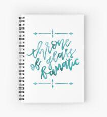 Cuaderno de espiral Trono de vidrio fanático - lámina de cian