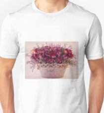 Pink Dried Roses Floral Arrangement T-Shirt