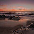 Sunrise at Jenny Dixon Beach. 10-5-14. by Warren  Patten