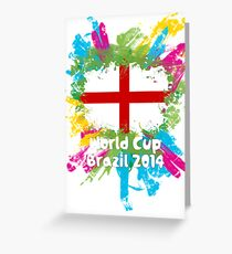 World Cup Brazil 2014 - England Greeting Card