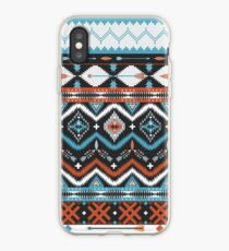 Vinilo o funda para iPhone Patrón tribal inconsútil nativo americano con elementos geométricos