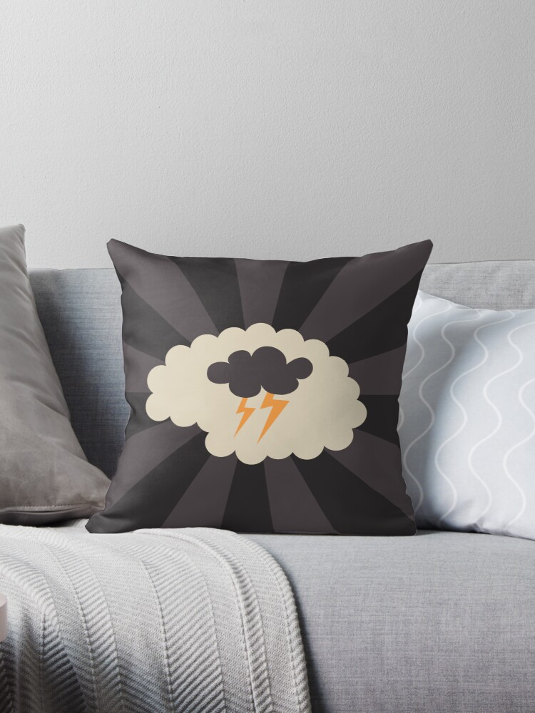 Brainstorming - creativity - ideas, throw pillow by MheaDesign