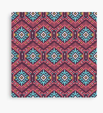 Aztec geometric seamless  colorful pattern Canvas Print