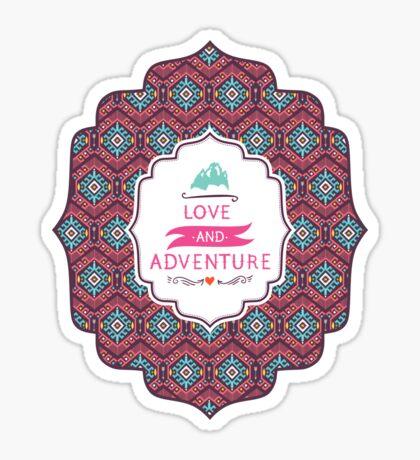 Aztec geometric seamless  colorful pattern Sticker