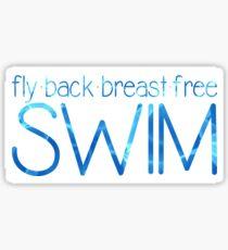 Schwimmen Sticker