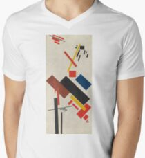 Kazimir Malevich - Stroyuschiysya Dom. Abstract painting: abstract art, geometric, expressionism, composition, lines, forms, creative fusion, spot, shape, illusion, fantasy future T-Shirt