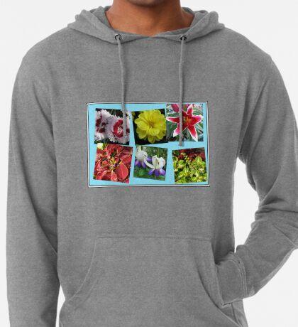 Erinnerungen an Sommerblumencollage Leichter Hoodie