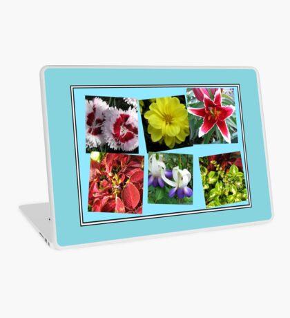 Erinnerungen an Sommerblumencollage Laptop Skin