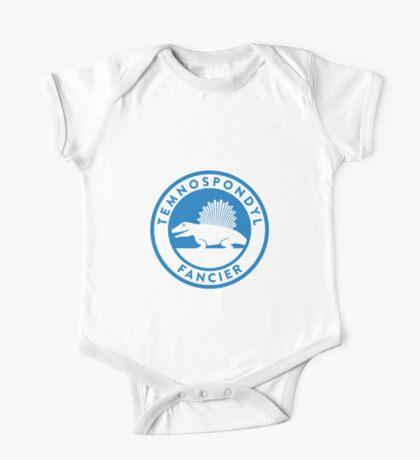 Temnospondyl Fancier Tee (Blue on White) Kids Clothes
