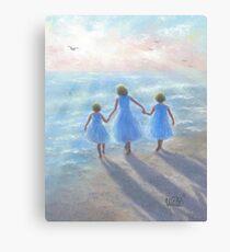 IMAGINE THREE BEACH SISTERS Canvas Print