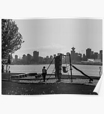 A playground with a view. Poster
