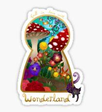 Travel to Wonderland Glossy Sticker
