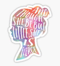 she is fierce Sticker
