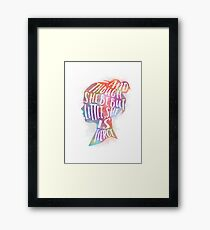 she is fierce Framed Print