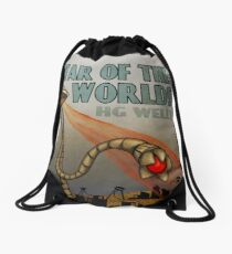 War of the Worlds Drawstring Bag