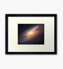 Amazing Spiral Galazy [Messier 106] | Fresh Universe Framed Print