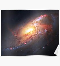 Amazing Spiral Galazy [Messier 106]   Fresh Universe Poster