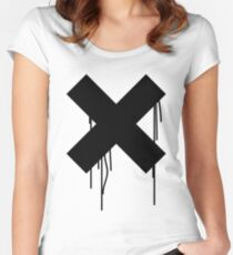 X graffiti drip Women's Fitted Scoop T-Shirt