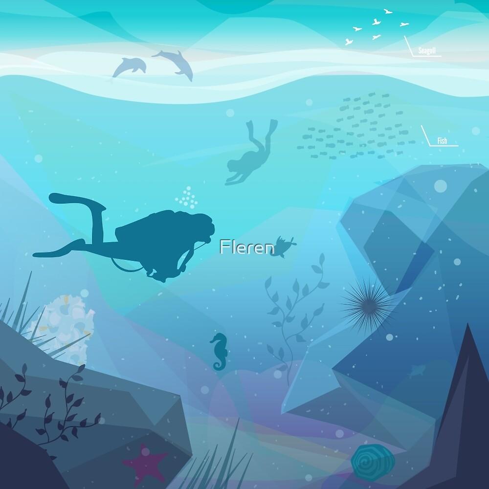 Underwater Diving Landscape by Fleren