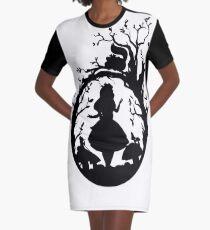 Silhouette - Alice im Wunderland T-Shirt Kleid