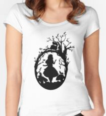 Silhouette - Alice In Wonderland Women's Fitted Scoop T-Shirt