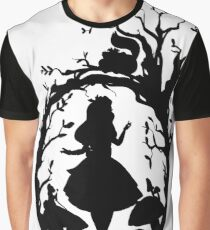 Silhouette - Alice In Wonderland Graphic T-Shirt