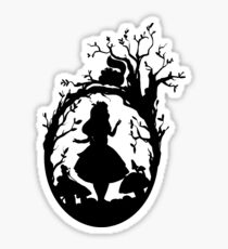 Silhouette - Alice In Wonderland Sticker