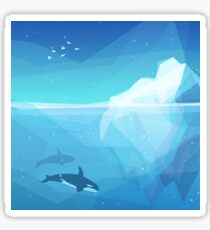 Landscape of northern and Antarctic life Sticker