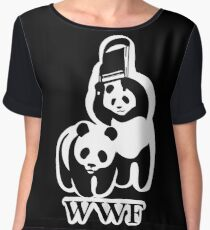 WWF panda parody Women's Chiffon Top