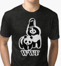 WWF panda parody Tri-blend T-Shirt