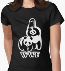 WWF panda parody Womens Fitted T-Shirt