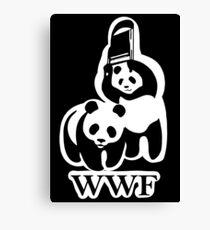 WWF panda parody Canvas Print