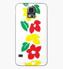 Rasta Flowers Case/Skin for Samsung Galaxy