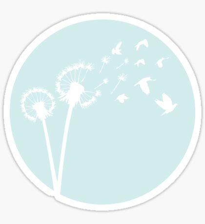 Dandelion Bird Flight Sticker