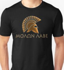 Molon lave-Spartan warrior-lithos font T-Shirt