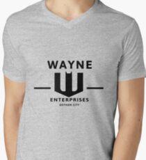 WAYNE ENTERPRISES [HD] Men's V-Neck T-Shirt