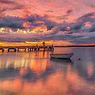 Military Jetty Sunrise - Caloundra Qld Australia by Beth  Wode
