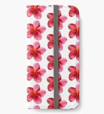 Pink Plumeria iPhone Wallet