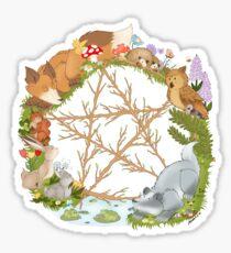 Woodland Pentagram Sticker