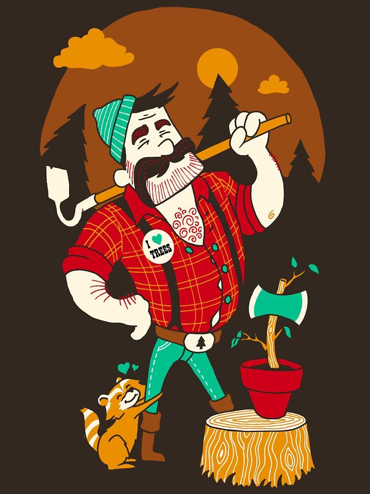 Green Thumberjack by briancookart