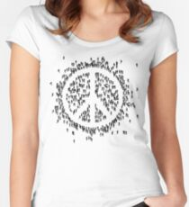 all we are saying.... is give peace a chance.... Women's Fitted Scoop T-Shirt