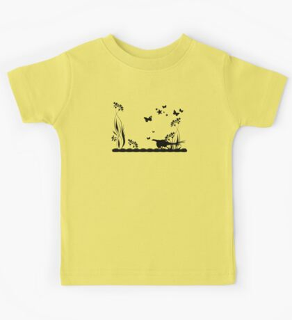 Pheasant and Butterflies VRS2 Kids Clothes