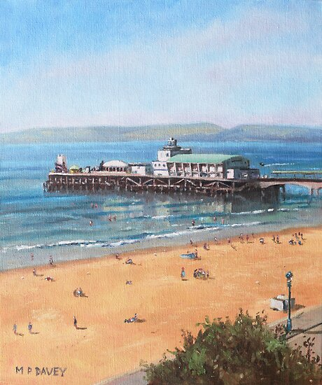 Bournemouth Pier summer morning from cliff top by martyee