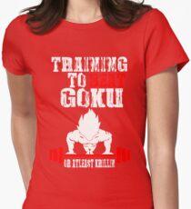 Training To Beat Goku Funny Gag Shirt Fro Men And Women Womens Fitted T-Shirt